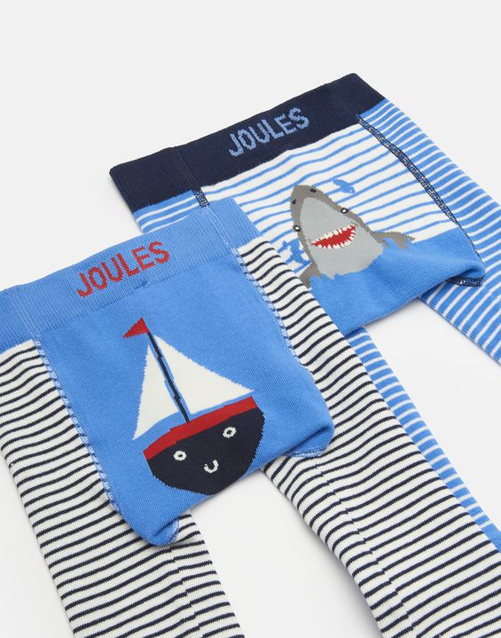 2 Pack Joules Lively Baby Boys Character Leggings